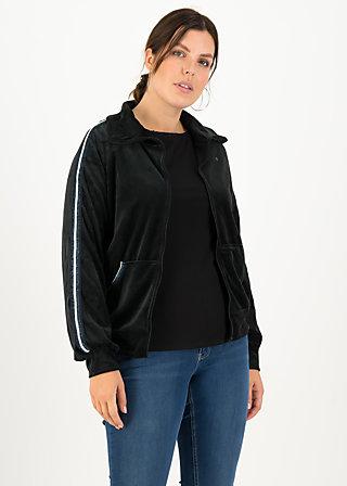 charming turtle zip, black eyeshadow, Pullover & leichte Jacken, Schwarz