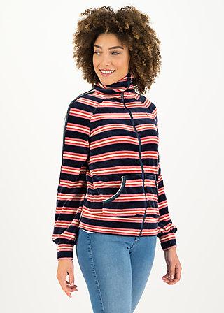 charming turtle zip, ski stripe, Pullover & leichte Jacken, Blau