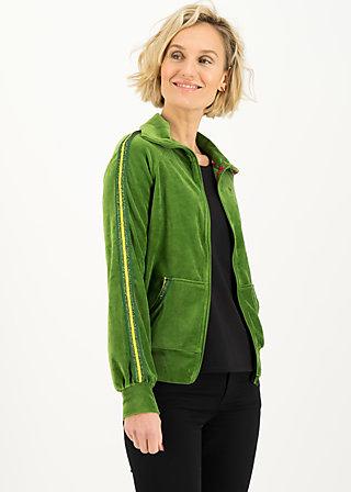 Zip-up Jacket charming turtle, yarn green, Zip jackets, Green