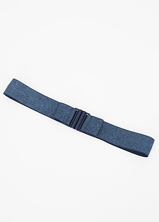 glitter friends elastic belt, blue sparkle, Accessoires, Blau