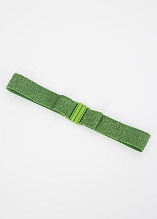 Gürtel glitter friends elastic, green sparkle, Accessoires, Grün