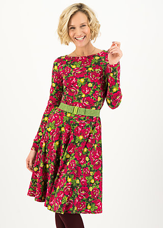 Jerseykleid gone with the wind, delicate dahlia, Kleider, Grün