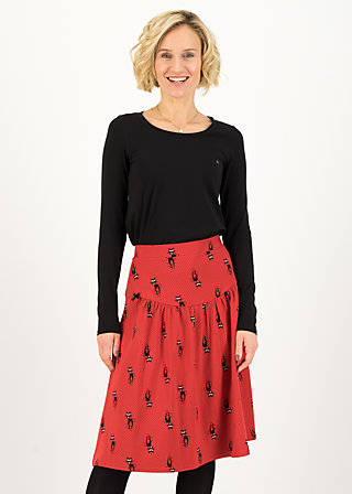 High Waisted Skirt kat club, kitties lover, Skirts, Red