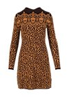 Jumper Dress leo stricklizzi, miss leo, Dresses, Brown
