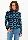 Strickpullover long turtle, frosty laurel, Pullover & Sweatshirts, Blau