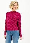 Knitted Jumper long turtle, pink shell, Jumpers & Sweaters, Pink
