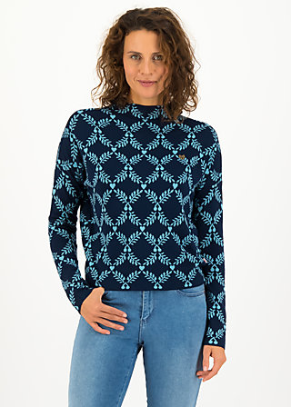 Knitted Jumper long turtle, frosty laurel, Jumpers & Sweaters, Blue