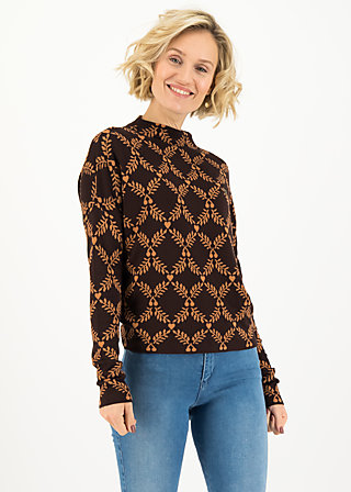 Strickpullover long turtle, russet laurel, Pullover & Sweatshirts, Braun