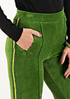 High-Waist-Hose lucky star trek, yarn green, Hosen, Grün