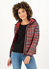 Quilted Jacket luft und liebe, winter check, Jackets & Coats, Red