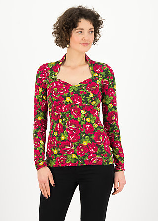 Longsleeve miraculous power, delicate dahlia, Shirts, Green