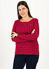 Longsleeve my cosy valentine, cut and sew circle, Shirts, Red