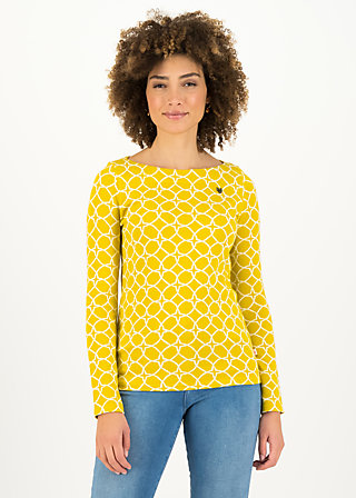 Longsleeve my cosy valentine, golden ski circle, Shirts, Yellow