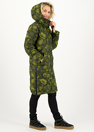 Quilted Jacket no down mister, bunch of flowers, Jackets & Coats, Green