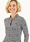 Sweatkleid pollys power, spin the stripes, Kleider, Schwarz