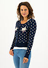 Cardigan stricklisel, frosty kitten, Cardigans & lightweight Jackets, Blue