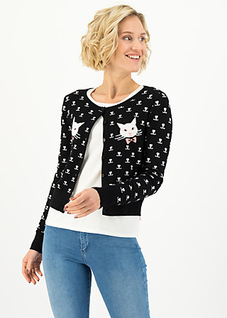 Cardigan stricklisel, black kitten, Cardigans & lightweight Jackets, Black