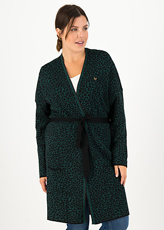 Cardigan rendezvous with myself, teal leo, Cardigans & lightweight Jackets, Green