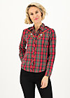 Shirt Blouse romance western, try the tartan, Blouses & Tunics, Red