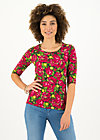 Jersey Top round and round, delicate dahlia, Shirts, Green