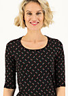 Jersey Shirt round and round, lady like, Shirts, Schwarz