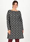 Dress sallys tulip sixties, black beauty circle, Dresses, Black