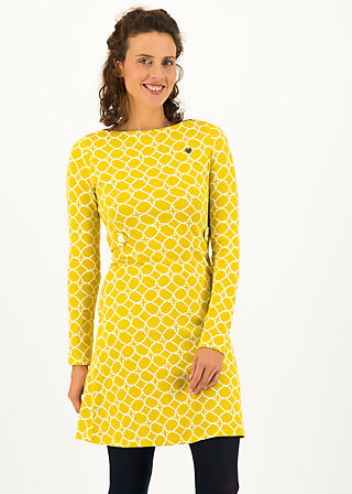 sallys tulip sixties dress, golden ski circle, Dresses, Yellow