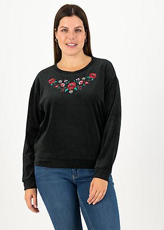 samtpfoten sweater, black eyeshadow, Pullover & leichte Jacken, Schwarz