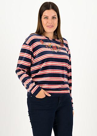 samtpfoten sweater, ski stripe, Pullover & leichte Jacken, Blau
