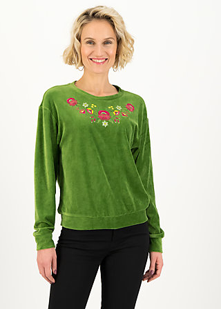 Jumper samtpfoten, yarn green, Jumpers & Sweaters, Green