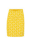 straight pencil jupe, golden ski circle, Skirts, Yellow