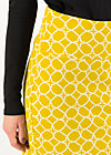 High Waisted Skirt straight pencil, golden ski circle, Skirts, Yellow