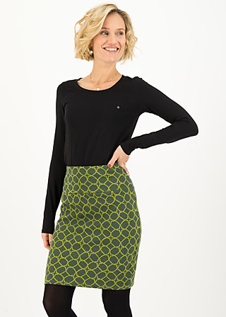 High Waisted Skirt straight pencil, wood hood circle, Skirts, Green