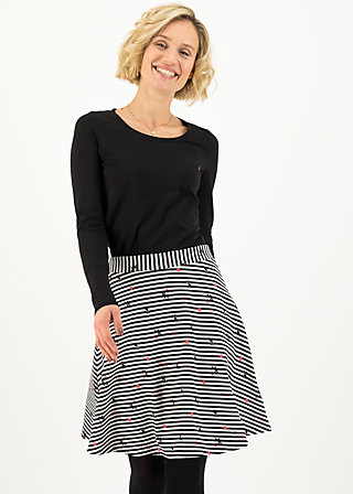 supercalifragil skirt, spin the stripes, Röcke, Schwarz