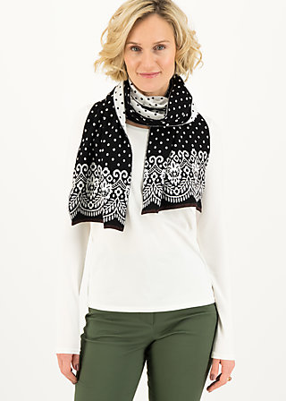 Knitted Scarf sweet talking, black betsy , Accessoires, Black
