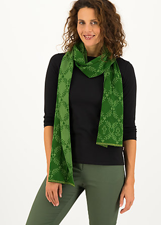 Knitted Scarf sweet talking, lucky laurel, Accessoires, Green