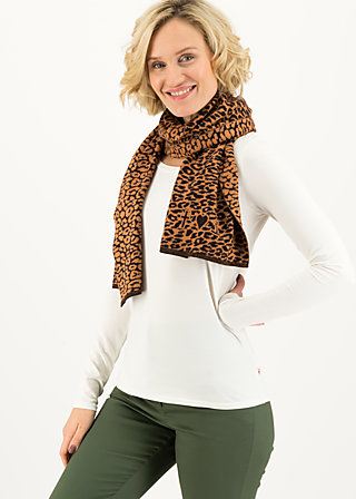 Knitted Scarf sweet talking, miss leo, Accessoires, Brown