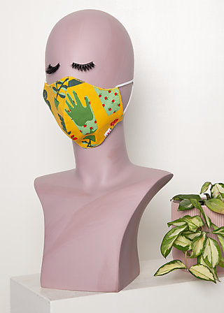 community mask (1 pcs), let love grow, Yellow