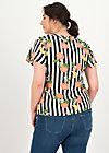 Short Sleeve Blouse feed the birds, pick the peachies, Blouses & Tunics, Black