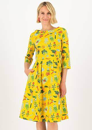 Sommerkleid gärtchen eden, let love grow, Kleider, Gelb