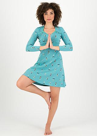 Jerseykleid honest bee, yoga flowgirls, Kleider, Blau