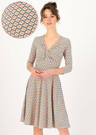 Sommerkleid hot knot  3/4 arm, peach penny, Kleider, Weiß