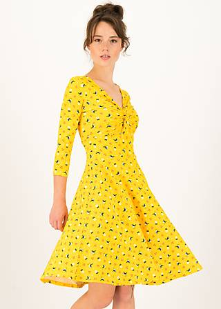Sommerkleid hot knot  3/4 arm, cherry picknick, Kleider, Gelb
