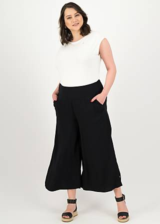 Culotte in fully bloom, black to nineties, Hosen, Schwarz