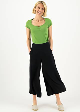 Culottes in fully bloom, black to nineties, Trousers, Black