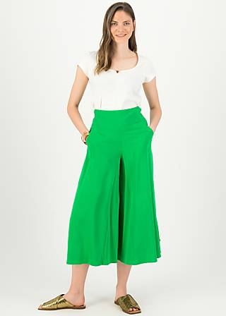 Culotte in fully bloom, joyful green, Hosen, Grün