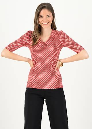 Jersey Shirt gar so nett, sneaky snack, Blusen & Tuniken, Rot