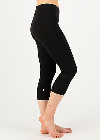 logo 3/4 leggings, basic black, Leggings, Black