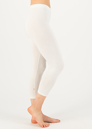 logo 3/4 leggings, essential white, Leggings, Weiß