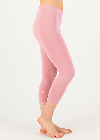 logo 3/4 leggings, feminine blush, Leggings, Rosa
